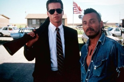 TriStar/Sony Pictures  Val Kilmer with John Trudell in in his acclaimed performance as Johnny Looks